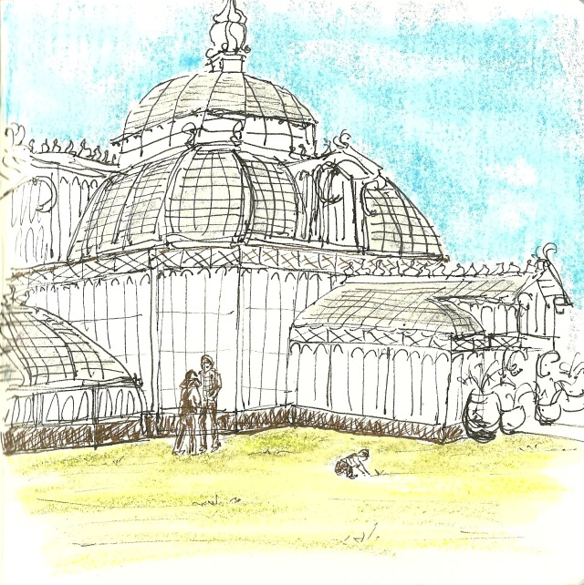 The Conservatory of Flowers in Golden Gate Park (sketch by Heath Massey)