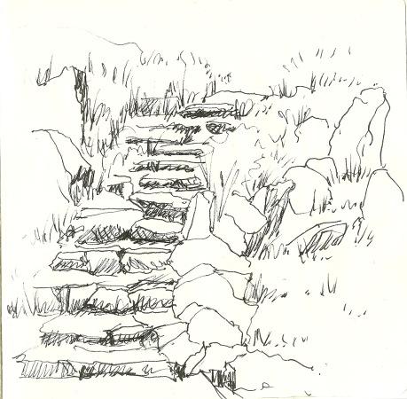The Rockery (sketch by Heath Massey)