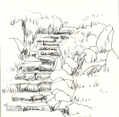 The Rockery (sketch by Heath Massey)