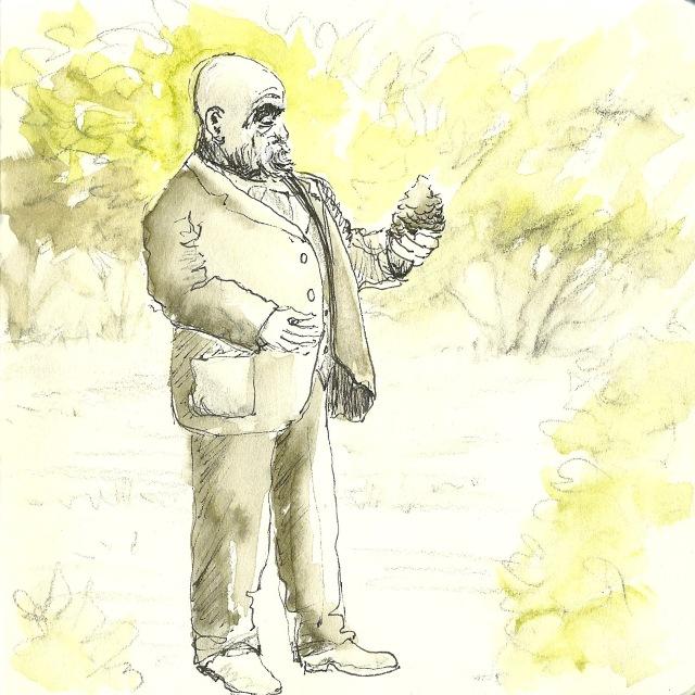 Statue of John McLaren, Golden Gate Park (sketch by Heath Massey)
