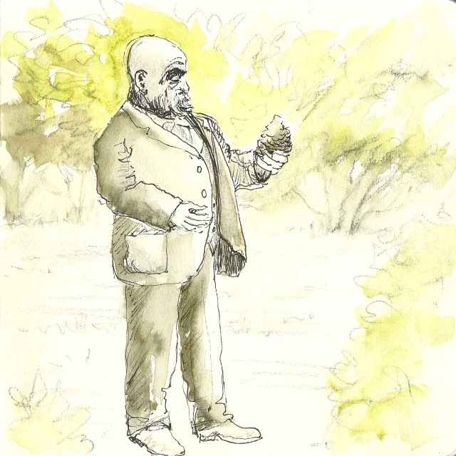 Statue of John McLaren, Golden Gate Park (sketch by Heath Massey)