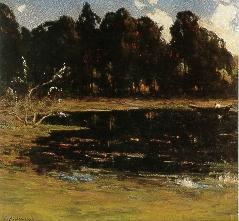 """""""Golden Gate Park,"""" oil, by Giuseppe Cadenesso"""
